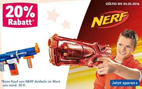 """Bild zu Toys""""R""""Us: 20% Rabatt auf alle Nerf Artikel, z.B. Hauck Nerf Battle Racer Go Kart für 218,94€"""