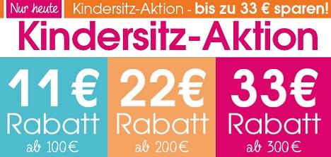 Bild zu Baby-Markt: Bis zu 33€ Rabatt auf Kindersitze (abhängig vom Bestellwert)