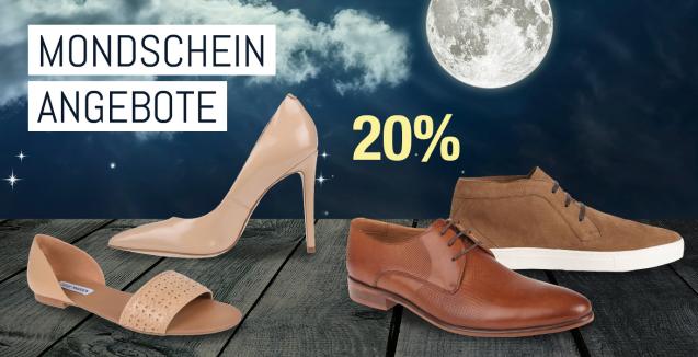 Bild zu Galeria Kaufhof Mondschein Angebote: 20% Rabatt auf Damen- und Herrenschuhe