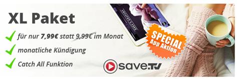 Bild zu [iOS] 1 Monat Save.TV XL für 7,99€ statt 9,99€ (monatlich kündbar)