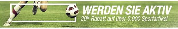 Bild zu Amazon: 20% Extra Rabatt auf über 5.000 Sportartikel