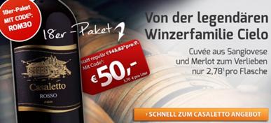Bild zu Weinvorteil: 18 Flaschen Cielo e Terra – Casaletto Rosso VdT für 54,95€