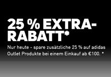 Bild zu adidas: Sale mit bis zu 50% Rabatt + 25% Extra Rabatt (ab 100€ MBW)