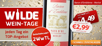 Bild zu Weinvorteil: 6 Flaschen Baron d'Emblème – Merlot – Pays d'Oc für 22,89€