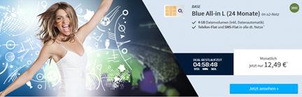 Bild zu o2-Netz (Allnet-Flat, SMS-Flat, 4GB LTE Datenvolumen, EU-Paket) für 12,99€/Monat