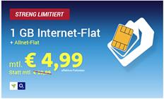 Bild zu Comfort Allnet o2 SIM-Only (Flat in alle Netze, 1GB Datenvolumen) für rechnerisch 4,99€/Monat