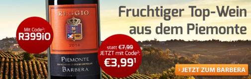 Bild zu Weinvorteil: 6 Flaschen Reggio – Barbera – Piemonte DOC für 28,89€