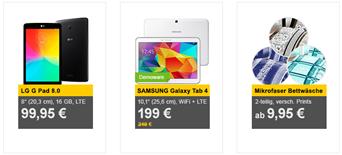 Bild zu Die Allyouneed.com Tagesangebote, z.B. LG G Pad 8.0 (16GB, LTE) für 99,95€