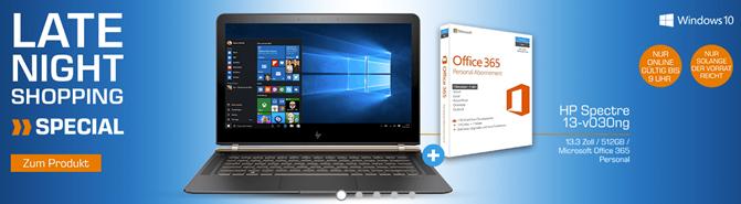 """Bild zu [bis 9 Uhr] Hewlett Packard Spectre 13-v030ng Notebook (Intel Core i7, 13.3"""", 8 GB RAM, 512 GB SSD, 1,1Kg, Windows 10) für 1379€"""