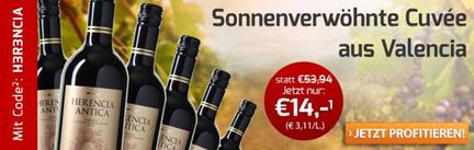 Bild zu Weinvorteil: 6 Flaschen Herencia Antica – Bobal Cabernet Sauvignon für 18,95€