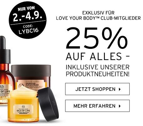 Bild zu The Body Shop: 25% Rabatt auf alle Artikel