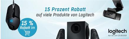 Bild zu Redcoon: 15% Rabatt auf ausgewählte Logitech Produkte