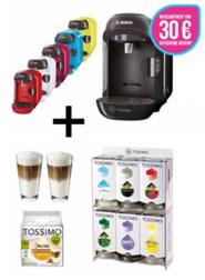 Bild zu Bosch TASSIMO VIVY + 2x 15€ Gutscheine + T Discs + Ritzenhoff Gläser Set + Spender für 34,99€