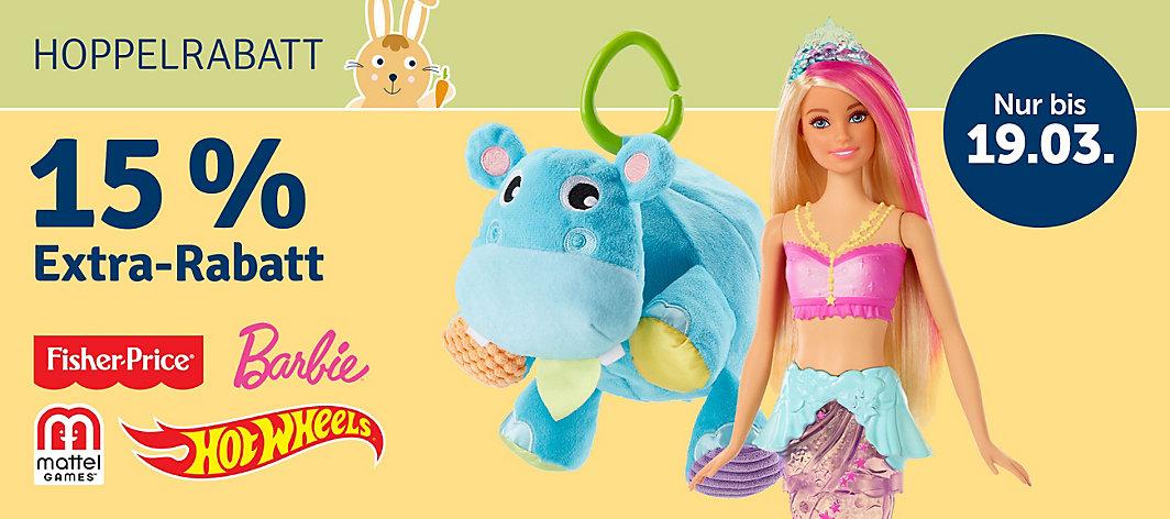 Bild zu MyToys: 15% Rabatt auf Fisher Price, Barbie, Mattel und Hot Wheels (MBW: 29€)