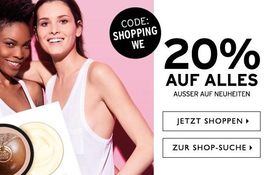 Bild zu The Body Shop: 20% Rabatt auf Alles (außer Neuheiten)