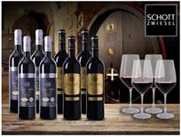 Bild zu Weinvorteil: 8er-Paket Casa Safra + 4 Schott-Zwiesel Rotweingläser für 49,99€