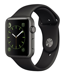 Bild zu Apple Watch Sport (42mm) mit Sportarmband spacegrau für 274,95€