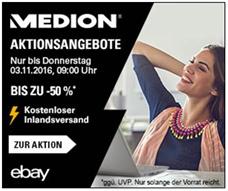 Bild zu eBay: MEDION Sonderverkauf mit bis zu 50% Rabatt