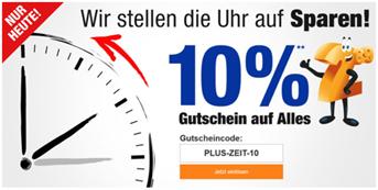 Bild zu Plus.de: nur heute 10% Rabatt auf (fast) alles
