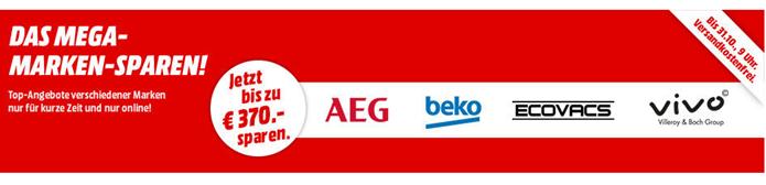 """Bild zu """"Das Mega-Marken-Sparen"""" mit AEG, Beko, Ecovacs + Vivo (Villeroy & Boch) bei Media Markt"""