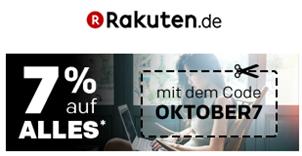 Bild zu Rakuten.de: 7% Rabatt auf Alles bis Montag 9 Uhr – ab da 25fache Superpunkte