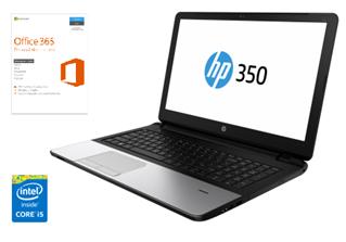 """Bild zu [Knaller] HP 350 G2 L8B05ES 15,6"""" Notebook mit Core i5 Prozessor, AMD Grafik usw. und Office 365 ab 299,70€ (Vergleich: 423,09€)"""