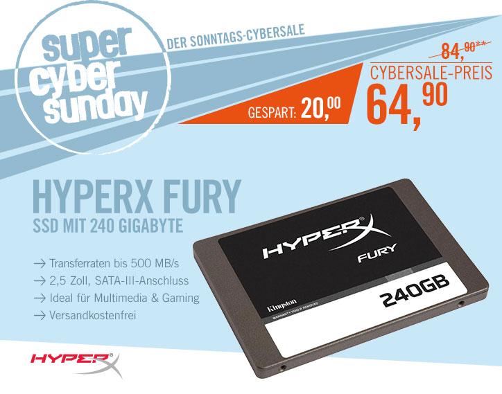Bild zu 240 GB SSD HyperX Fury für 64,90€