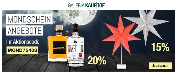 Bild zu Galeria Kaufhof Mondschein Angebote, z.B. 20% Rabatt auf Gin und Wodka