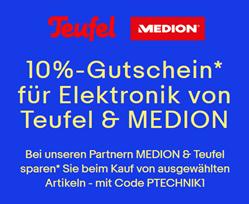 Bild zu eBay: 10% Rabatt auf Teufel & MEDION (bei Bezahlung per PayPal)