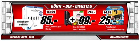 """Bild zu Media Markt """"Gönn die Dienstag"""", z.B. Microsoft Xbox 360 500GB inkl. Forza Horizon 2 für 99€"""
