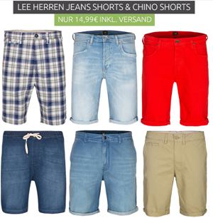 Bild zu Lee Herren Jeans Shorts sowie China Shorts für 14,99€