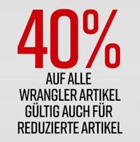 Bild zu Jeans-Direct: 40% Extra Rabatt auf alle Wrangler Artikel