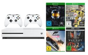 Bild zu Xbox One S mit 500GB + 2. Controller +  Halo + Forza Horizon 3 + FIFA 17 (als Download-Code) + 4K-Film Warcraft – The Beginning für 319€