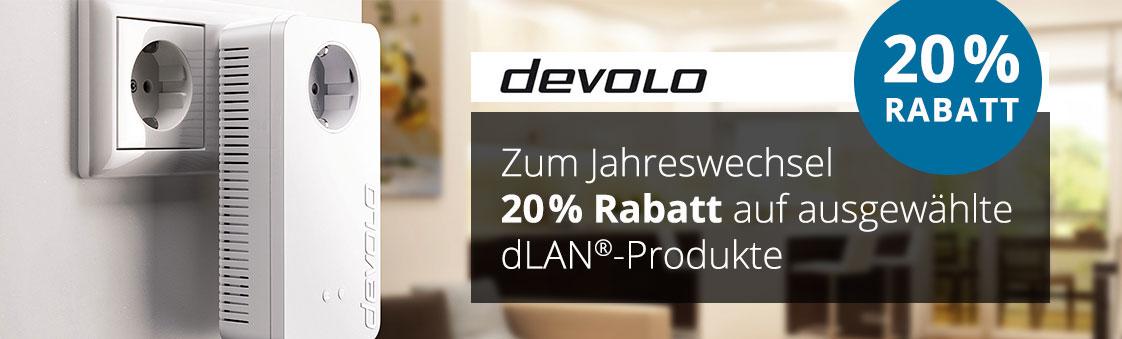 Bild zu Comtech: 20% Rabatt auf einige Devolo Artikel, z.B. devolo dLAN 650+ Starter Kit für 71,20€