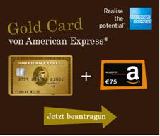 Bild zu [nur noch heute] American Express Gold Card: 40.000 Punkte (= z.B. zwei Gratisflüge in der EU + 50€ Amazon Gutschein) gratis bei 3.000€ Umsatz in den ersten 6 Monaten