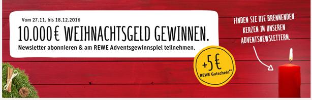 b8915d02bee31e REWE  Newsletter abonnieren und 5€ Gutschein bekommen (ab 30€ im ...