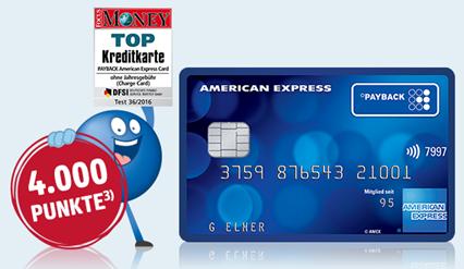 Bild zu American Express Payback Kreditkarte dauerhaft kostenlos mit 3.000 Punkten (=30€) Startguthaben + Paypack Punkte sammeln mit jedem Einkauf (egal wo) + kein Punkteverfall
