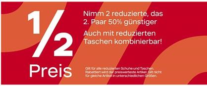 Bild zu Deichmann: Sale mit bis zu 50% Rabatt + beim Kauf von 2 Paaren gibt es das 2. Paar noch mal 50% günstiger