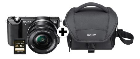 sony alpha 5000 systemkamera sonder kit kamera tasche. Black Bedroom Furniture Sets. Home Design Ideas