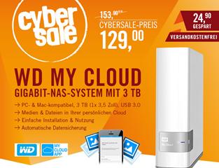 Bild zu Western Digital My Cloud (3TB) NAS System für 129€