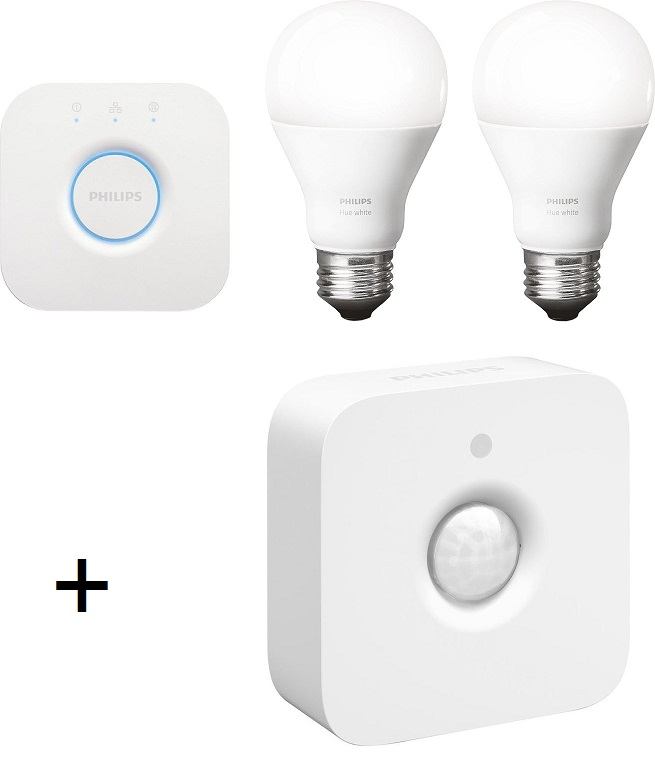Bild zu Philips Hue White Starter Set + Philips Hue Motion Sensor für 85€
