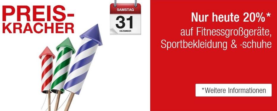 Bild zu Galeria Kaufhof: 20% Rabatt auf Fitnessgroßgeräte, Sportbekleidung und -schuhe