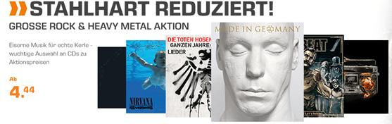 Bild zu Saturn: Rock & Heavy Metal CDs ab 4,44€ inklusive Versand