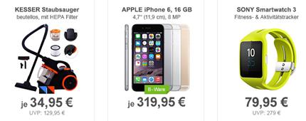 Bild zu Die Allyouneed.com Tagesangebote, so zB. SONY SmartWatch 3 SWR50 für 79,95€