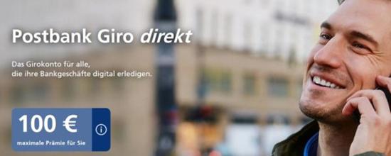 Bild zu Postbank Giro direkt: kostenloses Girokonto für Azubis und Studenten (alle anderen 1,90€/Monat) + bis zu 150€ Prämie