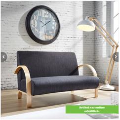 """Bild zu Sitzbank """"Doreen"""" in Grau aus Leinen für 72,95€ inklusive Versand"""