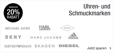 Schmuckmarken  Galeria Kaufhof: 20% Rabatt auf ausgewählte, bereits reduzierte ...
