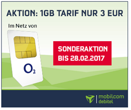 Bild zu Mit LTE: o2 Smart Surf mit 1GB Datenflat + 50 Freiminuten + 50 Frei SMS für 3€/Monat