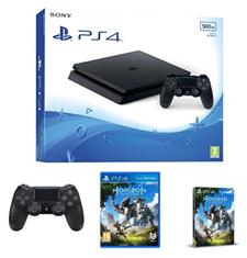 Bild zu Sony PlayStation 4 500GB Slim + Horizon Zero Dawn + zweiter DualShock 4 für 275,77€