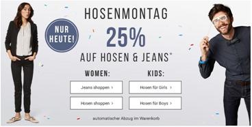 Bild zu Tom Tailor: nur heute 25% Rabatt auf reguläre Hosen & Jeans